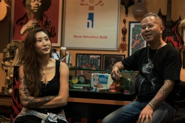 Jayers with her mentor Kenny, who encouraged her first at Solo Tattoo and later when she decided to start her own business - LovinKit Tattoo.